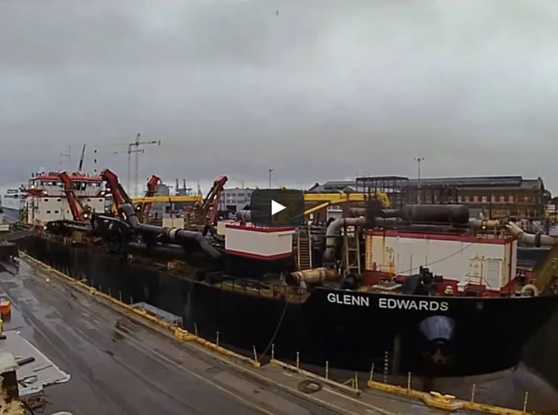 GLENN EDWARDS at Detyens Shipyards in May of 2016