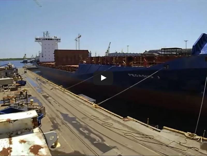 Pegasus J Undocking Detyens Shipyards May 2016