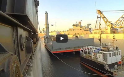 Tropic Knight & USCG Bayberry drydocking at Detyens Shipyards